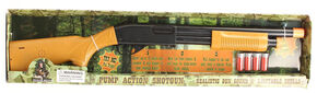 Little Outlaw Toy Pump Action Shotgun, Brown, hi-res