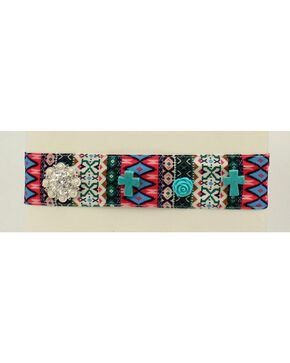 Blazin Roxx Tribal Print Fabric Headband, Multi, hi-res