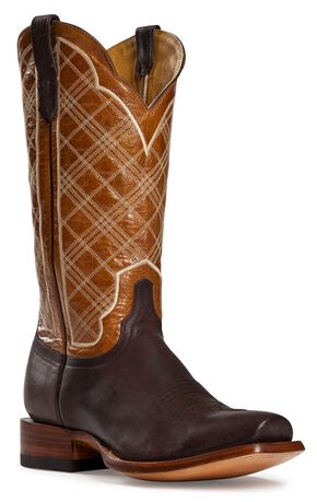 Cinch Classic Sao Paulo Cowboy Boots - Square Toe, Brown, hi-res