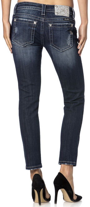Miss Me Women's Gem Glam Ankle Skinny Jeans - Extended Sizes , Denim, hi-res