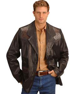 Kobler Hand Tooled Leather Blazer, , hi-res