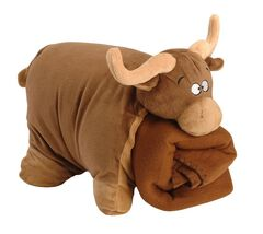 Brown Bull Blanket Buddy, , hi-res