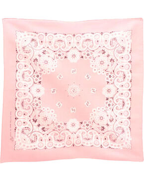 M&F Western Light Pink Western Fashion Bandanna , No Color, hi-res