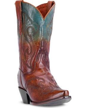 """Dan Post Women's Tan 11"""" Manic Cowgirl Boots - Snip Toe , Tan, hi-res"""