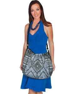 Scully Cantina Collection Black and Cream Beaded Crossbody, , hi-res