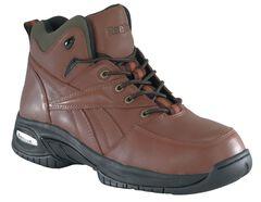 Reebok Men's Tyak Hiking Work Boots - Composite Toe, Brown, hi-res
