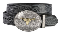 Exclusive Gibson Trading Co. Kids' Reversible Tooled Belt, , hi-res
