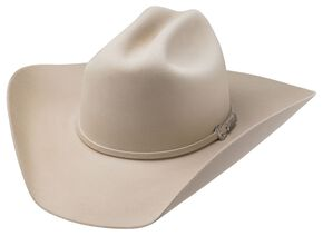 Tony Lama Low Rodeo Silverbelly 6X Fur Felt Cowboy Hat, Silverbelly, hi-res