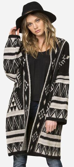 Miss Me Women's Tribal Patterned Oversized Cardigan, , hi-res
