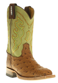 Cinch Boys' Full Quill Ostrich Print Boots - Square Toe, , hi-res