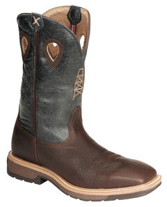 Twisted X Pull-On Cowboy Work Boots - Steel Toe, , hi-res