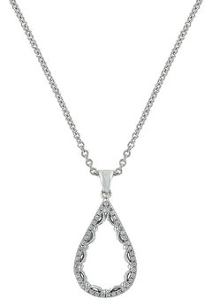 Montana Silversmiths Women's Laced Teardrop Necklace , , hi-res