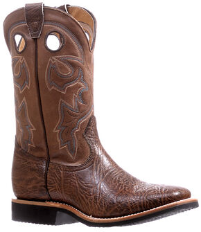 Boulet Brown Shoulder Extralight Cowboy Boots - Square Toe , Brown, hi-res
