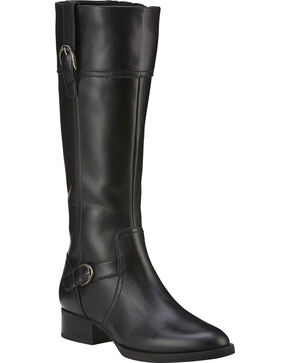 Ariat Women's York Tall Boots - Medium Toe, Black, hi-res