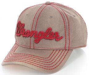 Wrangler Brown and Red Logo Cap , Brown, hi-res