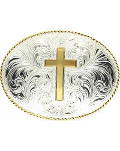 Engraved Cross Belt Buckle, , hi-res