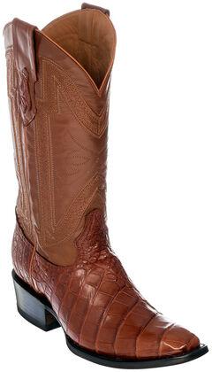 Ferrini Alligator Belly Exotic Cowboy Boots - Square Toe, , hi-res