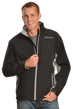 Ariat Men's Vernon Softshell Jacket, Black, hi-res