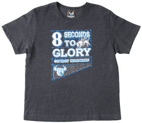 "Cowboy Hardware Boys' ""8 Seconds to Glory"" T-Shirt , Vintage Blue, hi-res"