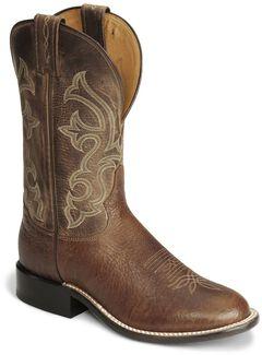 """Tony Lama 11"""" Cognac Conquistador Shoulder Boots - Round Toe, , hi-res"""