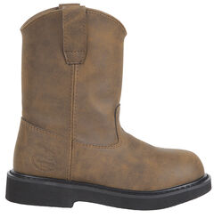 Georgia Youth Boys' Pull-On Work Boots - Round Toe, , hi-res