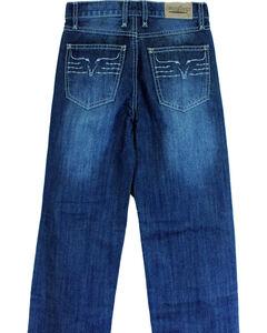 Cowboy Hardware Toddler Boys' King Steer Dark Wash Jeans (18MO-6T), Dark Blue, hi-res