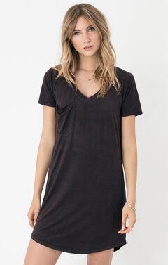 Z Supply Women's Black The Suede Dress, , hi-res