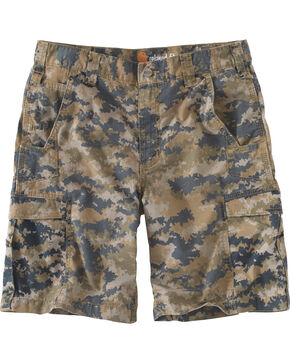 Carhartt Men's Mosby Digital Camo Cargo Shorts, Brown, hi-res