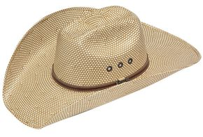 Twister 10X Shantung Maverick Straw Cowboy Hat, Brown, hi-res