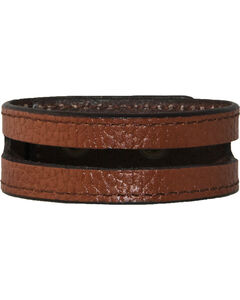 Stetson Tan Leather Cut-Out Wristband, , hi-res
