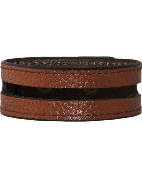 Stetson Men's Leather Cut-Out Wristband, Tan, hi-res