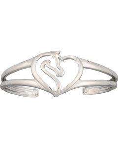 Montana Silversmiths Equestrian Heart Cuff Bracelet, , hi-res