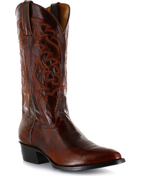 Moonshine Spirit Men's Narrow Round Toe Western Boots , Dark Brown, hi-res