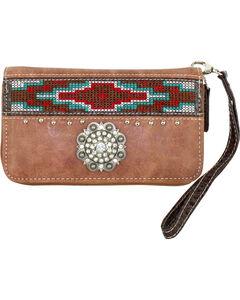 Savana Women's Tan Aztec Medallion Wallet, , hi-res