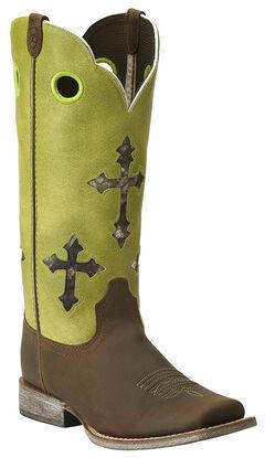 Ariat Youth Ranchero Cross Cowboy Boots - Square Toe, , hi-res