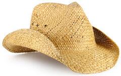Cody James Maverick Classic Straw Cowboy Hat, , hi-res