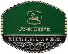 Montana Silversmiths John Deere Oval Painted Belt Buckle, , hi-res