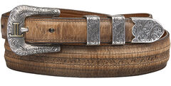 Lucchese Tan Mad Dog Goat with Hobby Stitch Belt, , hi-res