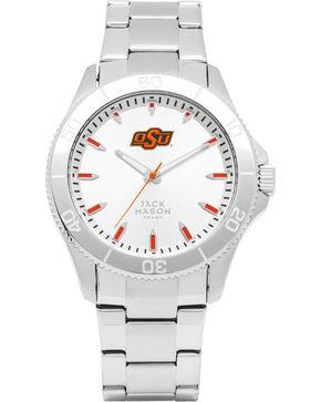 Jack Mason Men's Oklahoma State Cowboys Silver Dial Watch , Silver, hi-res