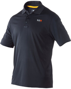5.11 Tactical Pinnacle Short Sleeve Polo, Black, hi-res