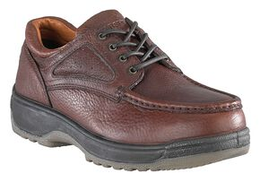 Florsheim Men's Compadre Steel Toe Lace-Up Oxford Shoes, Brown, hi-res