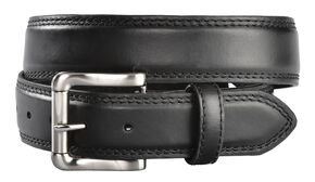 Gibson Trading Co. Men's Black Roller Buckle Leather Belt, Black, hi-res
