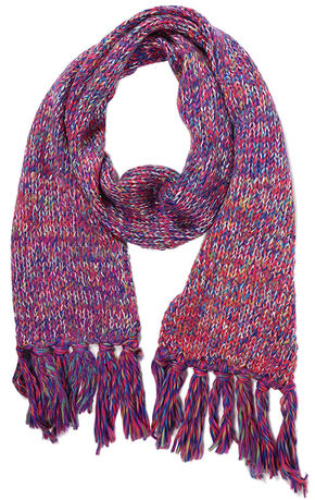 Shyanne Space Dye Cable Knit Scarf, Multi, hi-res