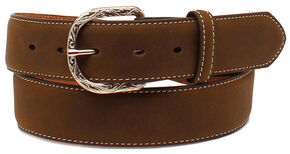 Cody James Men's Christian Cowboy Concho Belt, Brown, hi-res