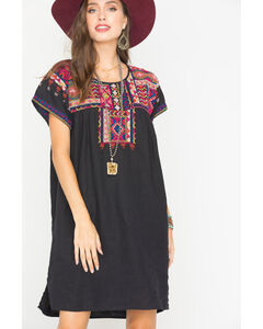 Johnny Was Women's Reld Pleated Peasant Tunic, , hi-res