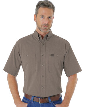 Wrangler Men's Dark Olive RIGGS Workwear® Chambray Work Shirt - Big and Tall, Olive, hi-res