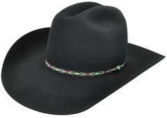 Bailey Men's Black Bridger 3X Wool Felt Cowboy Hat, , hi-res