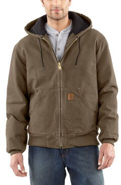 Carhartt Men's Sandstone Flannel Lined Active Jacket - Big and Tall, , hi-res