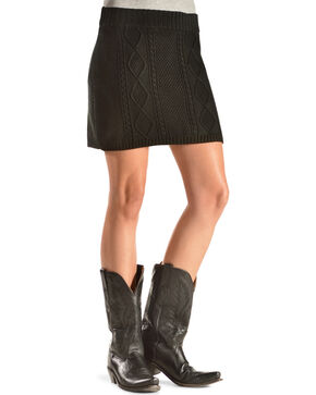 Others Follow Women's Cambridge Knit Skirt, Black, hi-res