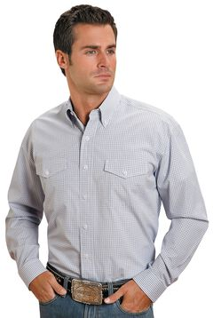Stetson Plaid Check Button Shirt, , hi-res